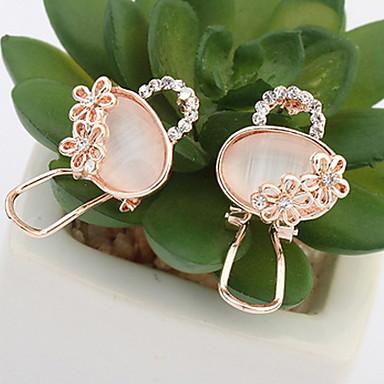 Heren Dames Oorknopjes Ring oorbellen Synthetische Opaal Synthetische Diamant Gepersonaliseerde Dierenontwerp Vintage Standaard Sexy