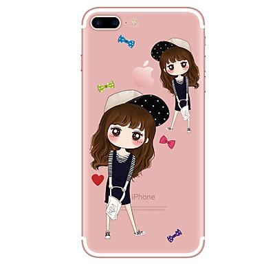 غطاء من أجل Apple iPhone 7 Plus iPhone 7 شفاف نموذج غطاء خلفي كارتون ناعم TPU إلى iPhone 7 Plus iPhone 7 iPhone 6s Plus ايفون 6s iPhone 6