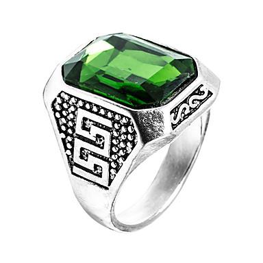 Men's Synthetic Emerald Ring - Zircon, Emerald Unique Design, Fashion, Euramerican 6 / 7 / 8 / 9 / 10 Green For Wedding Special Occasion Anniversary