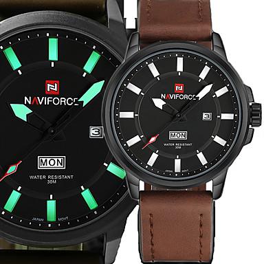 Herrn Sportuhr Kleideruhr Modeuhr Armbanduhr Armband-Uhr Armbanduhren für den Alltag Japanisch Japanischer Quartz Kalender Nachts