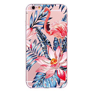 hoesje Voor Apple iPhone X iPhone 8 Transparant Patroon Achterkant Flamingo Bloem Zacht TPU voor iPhone X iPhone 8 Plus iPhone 8 iPhone 7