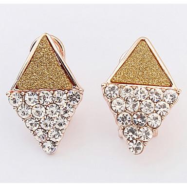 Damen Ohrstecker Tropfen-Ohrringe Kreolen Strass Basis Einzigartiges Design Logo Stil Strass Geometrisch Freundschaft Zum Selbermachen