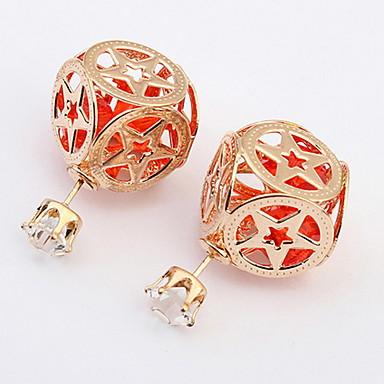 Damen Ohrstecker Tropfen-Ohrringe Kreolen Synthetischer Diamant Personalisiert Religiöser Schmuck Einzigartiges Design Logo Stil