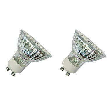 3W 280-320 lm GU10 LED-spotlampen MR16 60 leds SMD 3528 Warm wit Wit