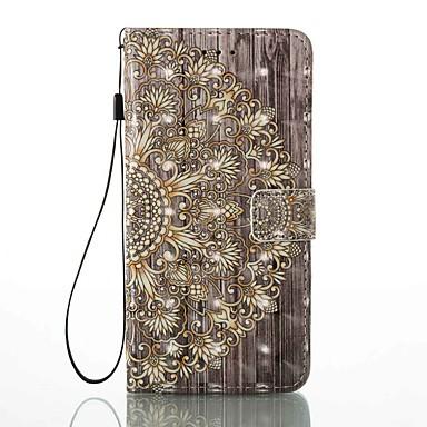 Hülle Für Apple iPhone 7 Plus / iPhone 7 Kreditkartenfächer / Geldbeutel / mit Halterung Ganzkörper-Gehäuse Blume Hart PU-Leder für