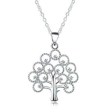 Coliere - Argilă Copacul Vieții Modă Argintiu Coliere Pentru Zilnic