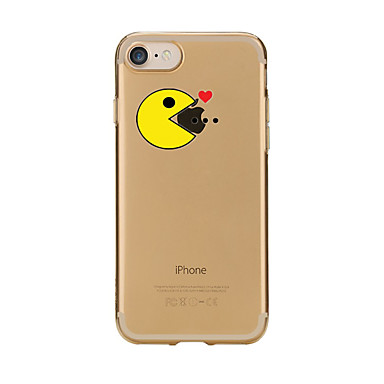 غطاء من أجل Apple iPhone 7 Plus iPhone 7 شفاف نموذج غطاء خلفي اللعب بشعار آبل كارتون ناعم TPU إلى iPhone 7 Plus iPhone 7 iPhone 6s Plus