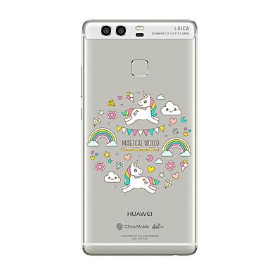 hoesje Voor Huawei P9 Huawei P9 Lite Huawei P8 Huawei Huawei P9 Plus Huawei P8 Lite Huawei Mate 8 Transparant Patroon Achterkant Cartoon