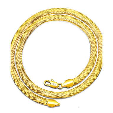للرجال أخرى مطلية بالذهب قلادات ضيقة  -  أسلوب بسيط ذهبي قلادة من أجل هدية يوميا فضفاض