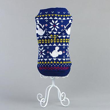 Hund Pullover Weihnachten Hundekleidung Schneeflocke Rot Blau Baumwolle Kostüm Für Haustiere Herrn Damen
