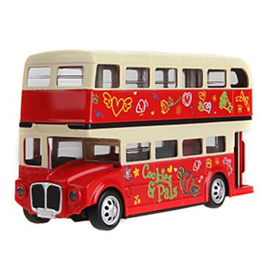 MZ Jucării pentru mașini Vehicul Die-cast Vehicul cu Tragere Vehicul de Fermă Jucarii Simulare Mașină Autobuz Autobuz cu etaj Aliaj