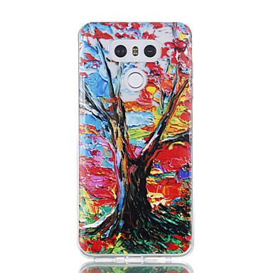 Hülle Für LG Transparent Muster Rückseitenabdeckung Baum Weich TPU für LG G6