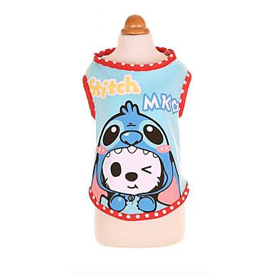 Câine Tricou Îmbrăcăminte Câini Casul/Zilnic Sport Desene Animate Albastru Roz Costume Pentru animale de companie