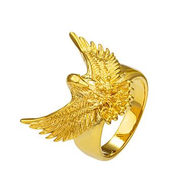 للرجال نحاس خاتم خاتم البيان - إيجال حيوان تصميم الحيوانات أساسي موضة قوطي Rock بانغك ذهبي حلقة من أجل هدايا عيد الميلاد مناسبة خاصة