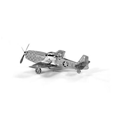 3D-puzzels Modelbouwsets Vliegtuig Plezier Roestvast staal Klassiek Kinderen Unisex Geschenk