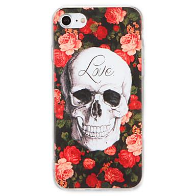 Voor apple iphone 7 7plus case cover patroon achterkant hoesje bloem schedel harde pc 6s plus 6 plus 6s 6