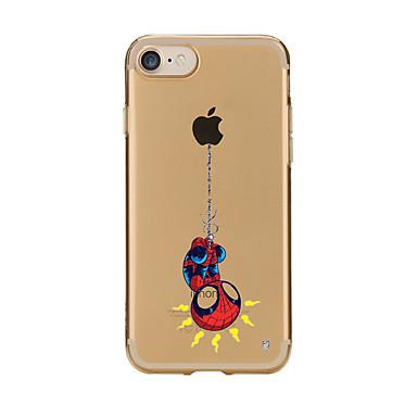 Voor iPhone X iPhone 8 Hoesje cover Transparant Patroon Achterkantje hoesje Spelen met Apple-logo Cartoon Zacht TPU voor Apple iPhone X