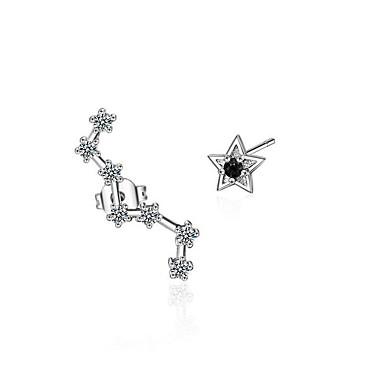 Pentru femei Cercei Stud Zirconiu Cubic Personalizat Hipoalergenic Nepotrivirea Zirconiu Placat cu platină Star Shape Bijuterii Pentru