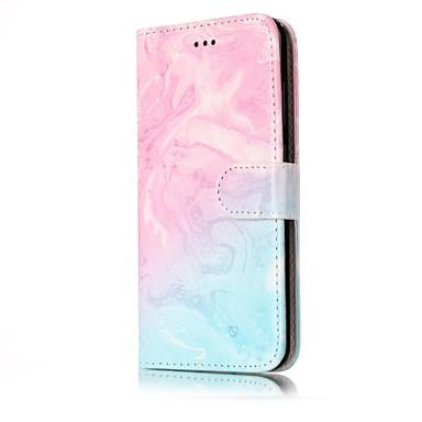 Maska Pentru Huawei P9 Lite Huawei Huawei P8 Lite Titluar Card Portofel Cu Stand Întoarce Carcasă Telefon Marmură Greu PU piele pentru
