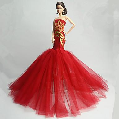 Party/Abends Kleid Für Barbie-Puppe Kleid Für Mädchen Puppe Spielzeug