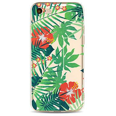 Für Apfel iphone 7 7 plus 6s 6 plus Fallabdeckung grünes Blatt Saflormuster gemaltes hohes penetration tpu Material weicher
