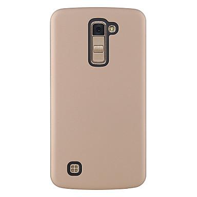 hoesje Voor LG Schokbestendig Achterkantje Effen Kleur Hard PC voor LG K10 LG K8 LG K4