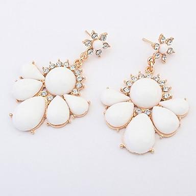 Pentru femei Cercei Picătură Personalizat Floral Design Unic Petale Inimă Modă Euramerican stil minimalist Reșină Aliaj Inimă Floare