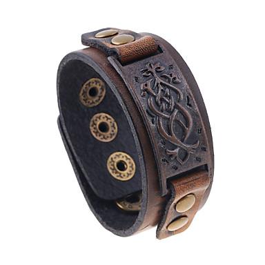 للرجال أساور من الجلد مجوهرات الطبيعة موضة جلد سبيكة غير منتظم مجوهرات مناسبة خاصة هدية الرياضة مجوهرات