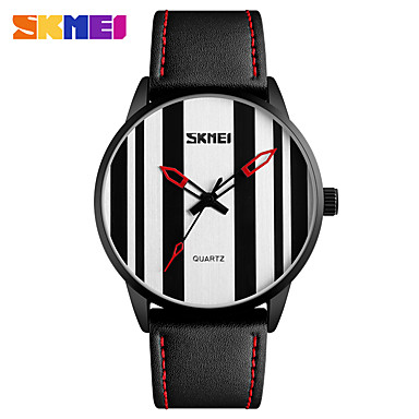 Heren Kwarts Unieke creatieve horloge Polshorloge Smart horloge Sporthorloge Chinees Kalender Waterbestendig Grote wijzerplaat Echt leer