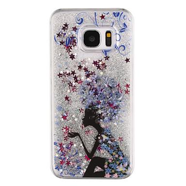 Hülle Für Samsung Galaxy S8 Plus S8 Mit Flüssigkeit befüllt Transparent Muster Rückseitenabdeckung Durchsichtig Cartoon Design Glänzender