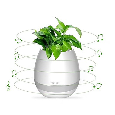 Bloempot luidspreker draadloze bluetooth 4.0, geleid stemmingslicht, piano desktop audio luidspreker