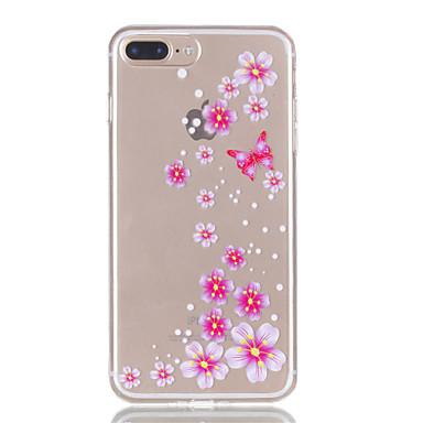 Voor iphone 7plus 7 tpu materiaal vlinder bloemen patroon reliëf telefoon hoesje 6s plus 6plus 6s 6 se 5s 5