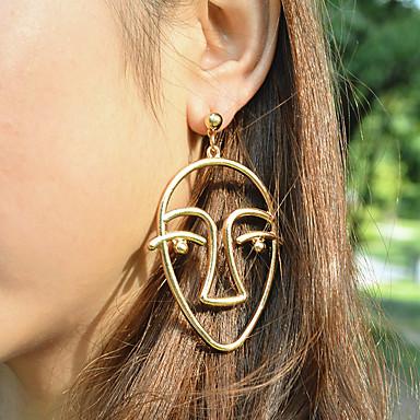 Dames Druppel oorbellen Sieraden Uniek ontwerp Legering Geometrische vorm Sieraden Goud Zilver Kerstcadeaus Feest Speciale gelegenheden