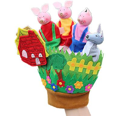 Fingerpuppen Puppen Spielzeuge Rabbit Schwein Tier Tiere Tactel Kinder Stücke