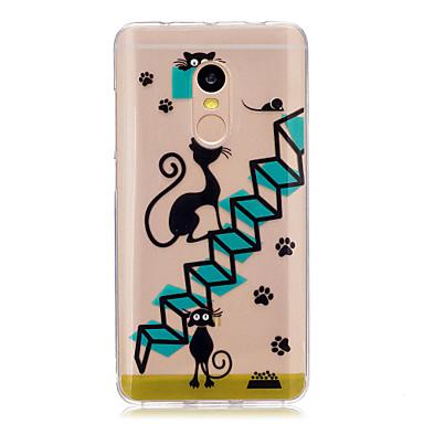 Voor xiaomi redmi note 4 note 3 case cover cartoon kat patroon achterkant zachte tpu redmi note