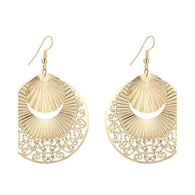 Damen Tropfen-Ohrringe / Anhänger - versilbert, vergoldet Blume Geometrisch, Einzigartiges Design, Anhänger Stil Gold / Silber Für Weihnachts Geschenke / Hochzeit / Party