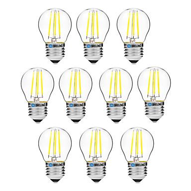 BRELONG® 10 Stück 4W 300 lm E27 LED Glühlampen G45 4 Leds COB Abblendbar Warmes Weiß Weiß AC 200-240 V