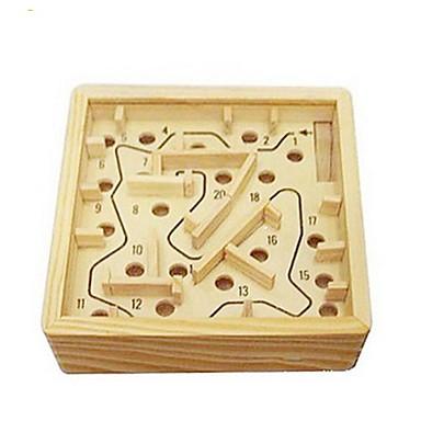 Jocuri de masă Mingi Labirint & Puzzle-uri Secvențiale Labirint Labirintul din lemn Jucarii Pătrat Lemn Bucăți Ne Specificat Cadou