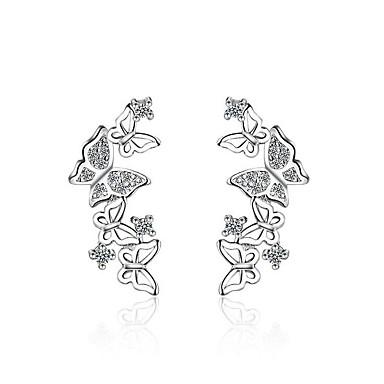 Pentru femei Bowknot Shape Zirconiu Cubic Zirconiu Cercei Stud - Design Animal Argintiu Bowknot Shape cercei Pentru Petrecere / Seară /