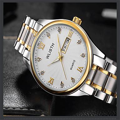 Heren Modieus horloge Kwarts Legering Band Vrijetijdsschoenen Zilver Goud