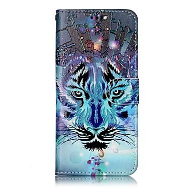 hoesje Voor Samsung Galaxy S8 Plus S8 Kaarthouder Portemonnee met standaard Flip Magnetisch Patroon Volledig hoesje dier Hard PU-nahka