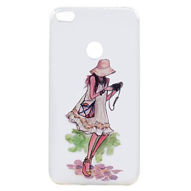 Voor huawei p10 p10 plus case cover droom meisje serie geschilderd hoge penetratie tpu materiaal zacht geval telefoon hoesje p8 lite