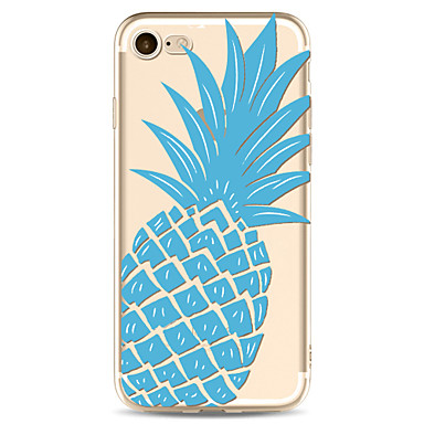 Für Apfel iphone 7 7 plus 6s 6 plus Fallabdeckung Ananasmuster gemaltes hohes penetration tpu materielles weiches Falltelefonkasten