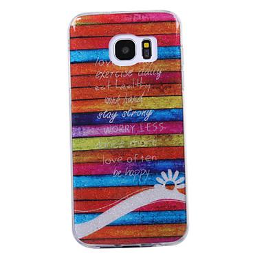 hoesje Voor Samsung Galaxy S8 Plus S8 IMD Patroon Achterkantje Lijnen / golven Glitterglans Zacht TPU voor S8 S8 Plus S7 edge S7 S6 edge