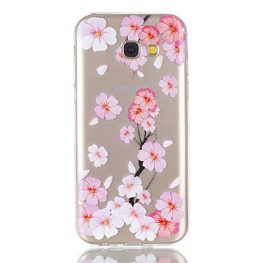 Hülle Für Samsung Galaxy A5(2017) A3(2017) Transparent Muster Rückseitenabdeckung Blume Weich TPU für A3 (2017) A5 (2017)