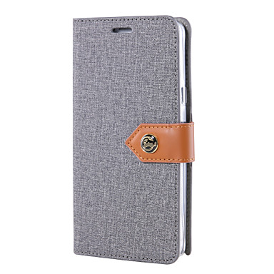 Voor Samsung Galaxy Note 5 notitie 4 case cover het canvas doek patroon pu lederen gevallen