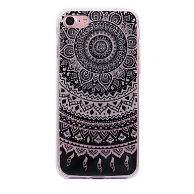 Voor apple iphone 7 7plus case cove datura bloemen patroon flash poeder imd proces tpu materiaal telefoon hoesje iphone 6 6s plus see 5s 5