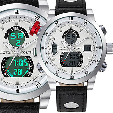 Heren Tiener Dress horloge Modieus horloge Polshorloge Armbandhorloge Unieke creatieve horloge Vrijetijdshorloge Digitaal horloge