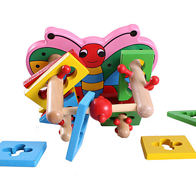 ENLIGHTEN أحجار البناء ألعاب فراشة خشب للأطفال قطع