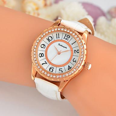 Damen Einzigartige kreative Uhr Armbanduhr Modeuhr Armbanduhren für den Alltag Quartz Schlussverkauf Echtes Leder Band Charme Luxus